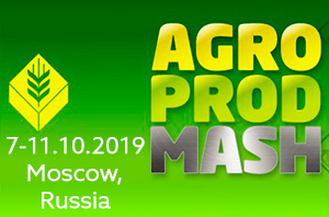 AgroProdMash 7-11.10.2019 Moscow, Russia