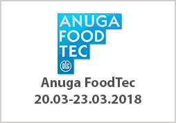 Anuga FoodTec 20.03.-23.03.18 Cologne, Germany