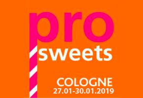 ProSweets 27.01-30.01.2019 Cologne, Germany